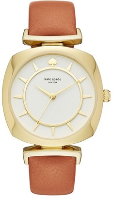 Women's Kate Spade New York Barrow Leather Strap Watch, 34Mm $195 thestylecure.com