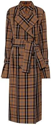 Rokh Plaid trench coat