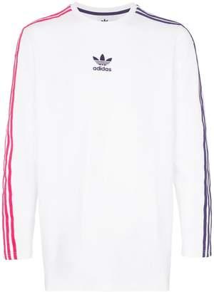 adidas sportivo contrast stripe long sleeve t-shirt