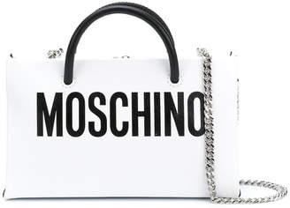 Moschino front logo shoulder purse