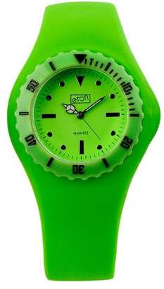 Eton Ladies Watch 2817-L with Green Dial and Green Rubber Strap