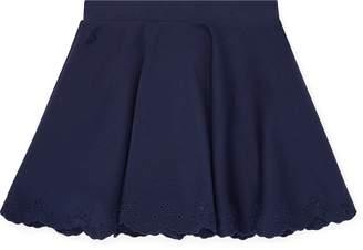Ralph Lauren Eyelet Ponte Circle Skirt