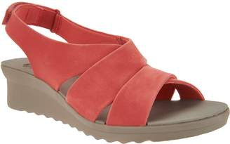 Clarks CLOUDSTEPPERS by Wedge Sandals - Caddell Bright
