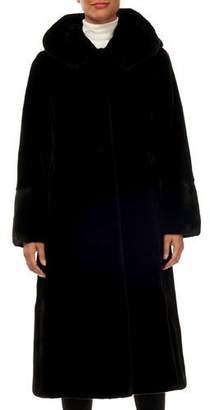 Gorski Reversible Mink-Fur Taffeta Mid-Length Coat