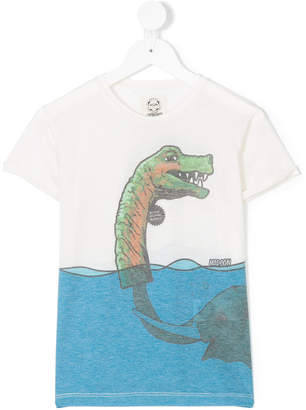 Madson Discount Kids elephant print T-shirt
