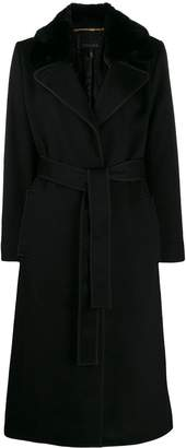 Escada belted long-length coat