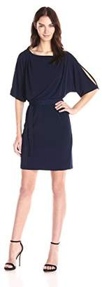 Jessica Simpson Women's Ity Cold-Shoulder Dress with Tie Waist