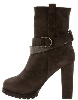 Brunello Cucinelli Suede Ankle Boots w/ Tags
