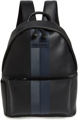 Ted Baker Stripe Faux Leather Backpack
