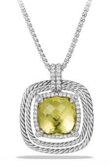 David Yurman Chatelaine Pave Bezel Enhancer with Lemon Citrine and Diamonds in 18K White Gold $1,850 thestylecure.com