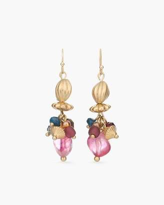 Chico's Chicos Multi-Colored Stone Drop-Cluster Earrings