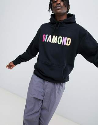 Diamond Supply Co. Colour Pop Logo Hoodie In Black