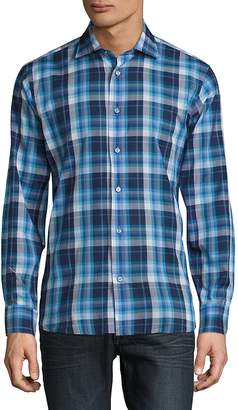 Robert Talbott Men's Crespi Casual Checked Sportshirt