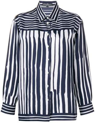 Salvatore Ferragamo striped long-sleeve shirt