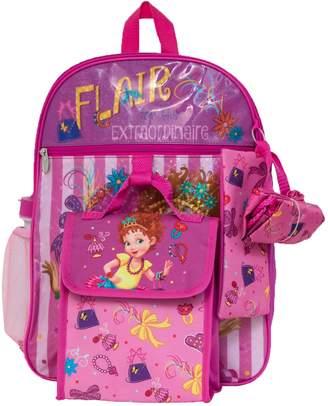 Disney Disney's Fancy Nancy Kids Backpack, Cinch Sack, Lunch Bag, Zip Pouch & Water Bottle Set