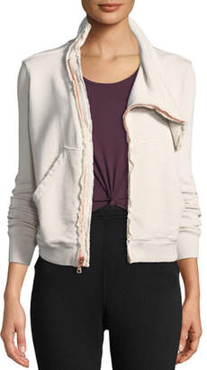 Frank And Eileen Asymmetric Zip-Front Fleece Jacket
