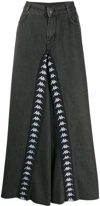 Kappa flared tape trousers