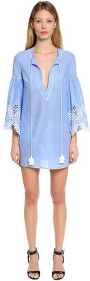 Ermanno Scervino Cotton Muslin Caftan Dress