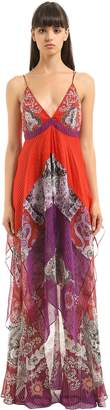 Roberto Cavalli Printed Silk Georgette Dress