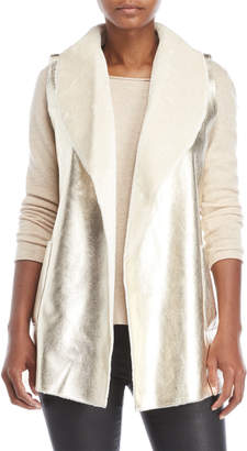 Dolce Cabo Metallic Faux Shearling Vest