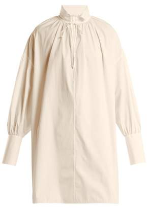 The Row Darma Point Collar Silk Poplin Shirt - Womens - Cream
