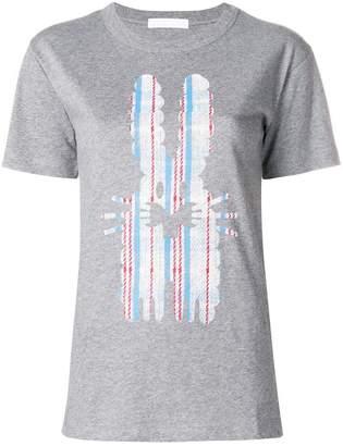 Peter Jensen checked rabbit T-shirt