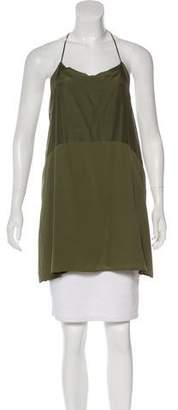 Anine Bing Silk-Blend Sleeveless Top