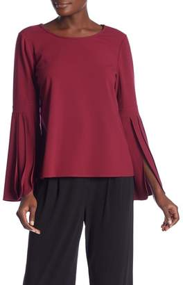 Laundry by Shelli Segal Pleated Sleeve Crepe Top