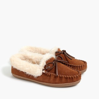 J.Crew Suede shearling slippers