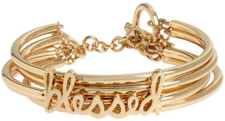 BCBGeneration 'Blessed' Affirmation Multi Row Toggle Bracelet