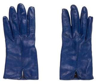 Giorgio Armani Leather Embellished Gloves