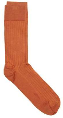 Corgi Solid Dress Socks in Orange