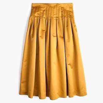 J.Crew Satin pleated midi skirt