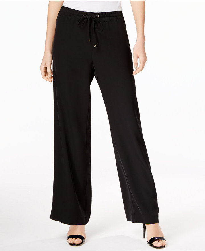 Calvin Klein Calvin Klein Flare-Leg Soft Pants, Only at Macy's