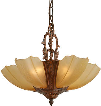 Rejuvenation Five-Light Slipper Shade Chandelier w/ Original Finish