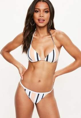 Missguided Stripe Underwired Triangle Bikini Top - Mix & Match