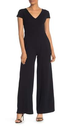 f745e8471f45 Donna Morgan V-Neck Cap Sleeve Jumpsuit