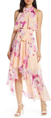 Eliza J Halter High/Low Maxi Dress