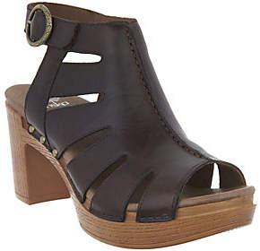 Dansko Leather Cut-out Sandals - Demetra