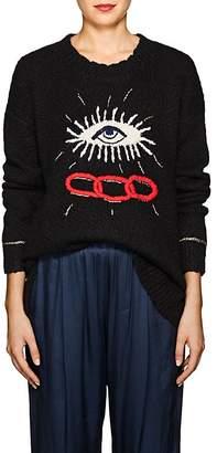 Raquel Allegra Women's Eye-Motif Alpaca-Blend Sweater