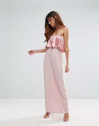 Oh My Love Frill Front Maxi Dress