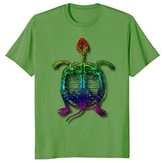 Fossil Rainbow Turtle Psychedelic Colorful Funny T-Shirt