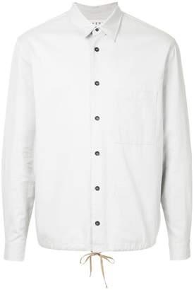 Covert elasticated hem long-sleeve shirt