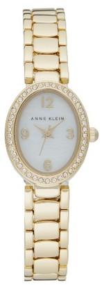 Women's Anne Klein Crystal Oval Bracelet Watch, 20Mm $85 thestylecure.com