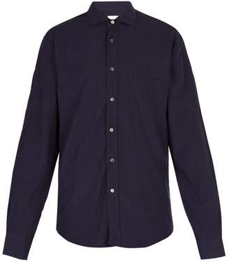 Paul Smith Checked Poplin Shirt - Mens - Navy Multi