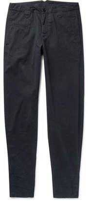 Aspesi Tapered Distressed Cotton-Twill Trousers