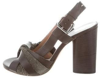 Maison Margiela Leather Multistrap Sandals