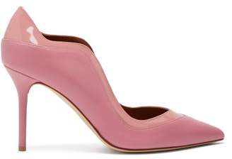 Malone Souliers By Roy Luwolt - Penelope Patent Leather Trimmed Pumps - Womens - Pink