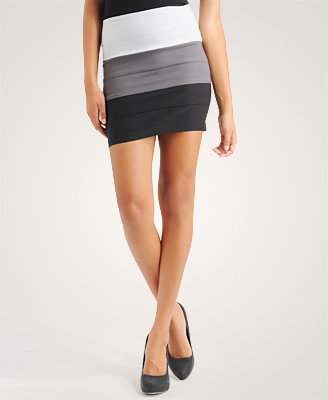 Colorblock Tiered Skirt