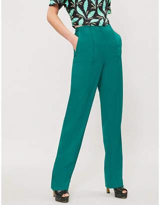 Diane von Furstenberg Pleated stretch-wool trousers
